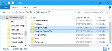 Perbedaan antara Folder Program Files (x86) dan Program Files di Windows